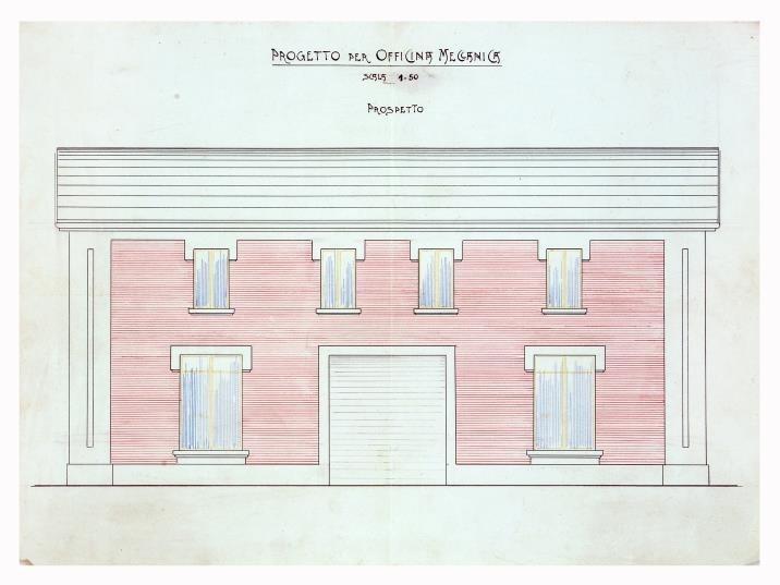 officine Stanguellini – progetto 1912 (Modena Archivio Storico Comunale)