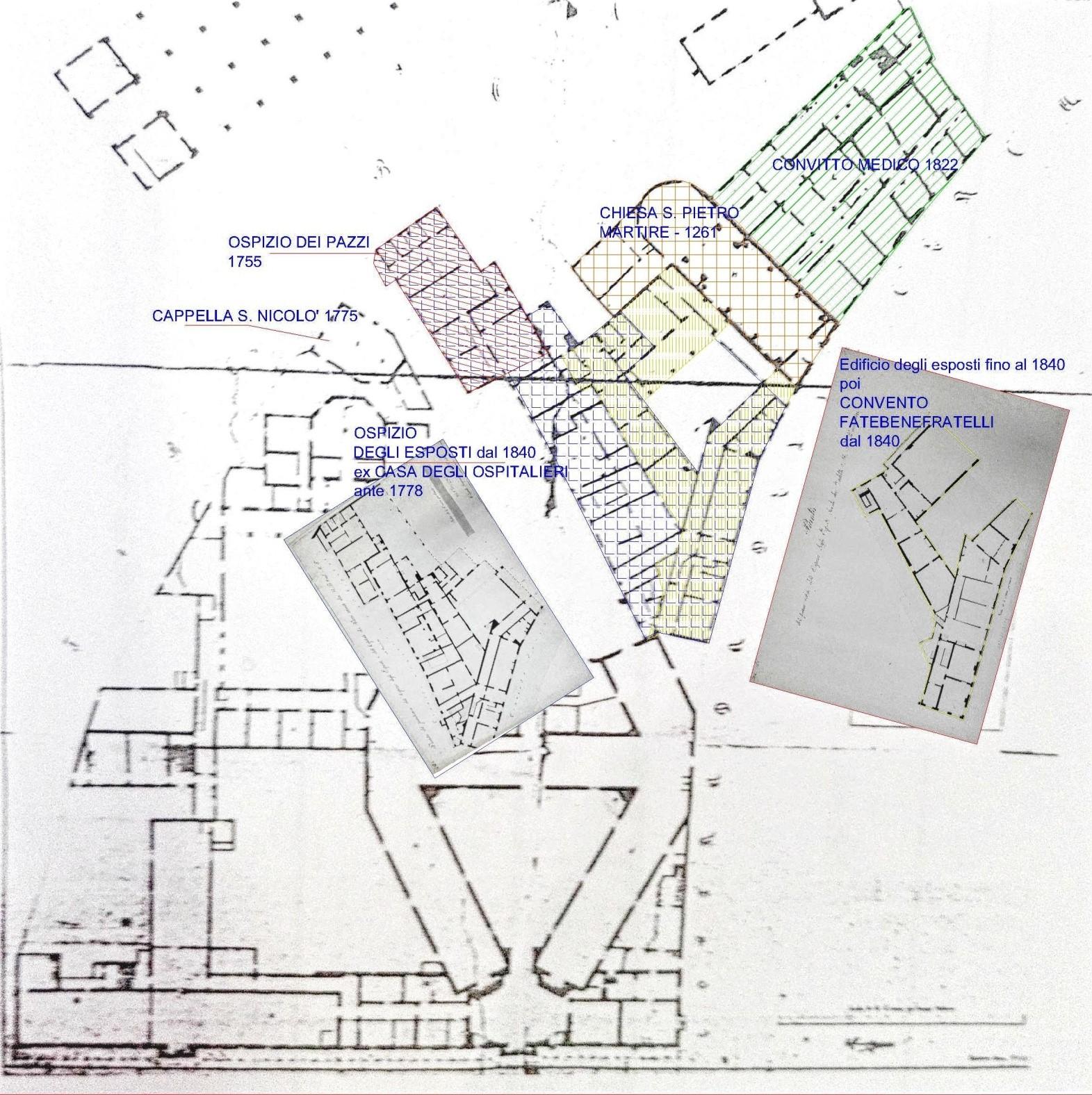 Trasformazioni edilizie 1753-1840 c.a.