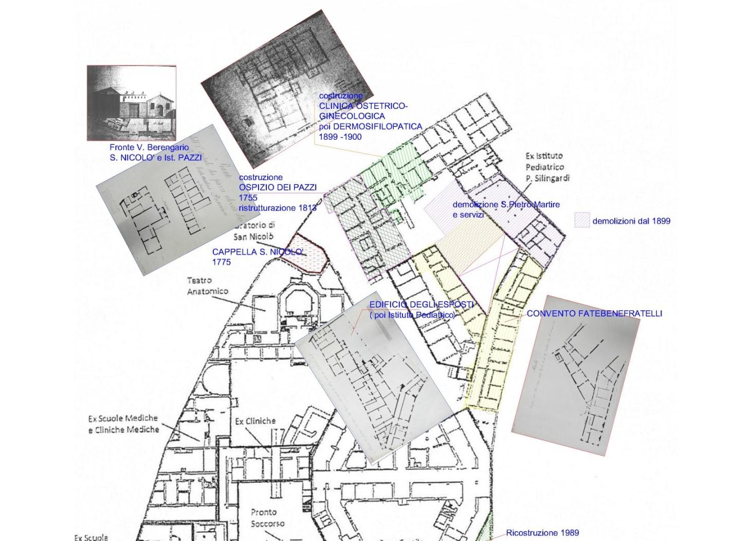 Trasformazioni edilizie fino al 1900 c.a.